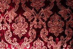 Velvet Print Faux Silk